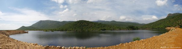 Panoramic view of the Nagala dam