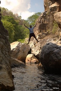 Arun Matthew jumping in