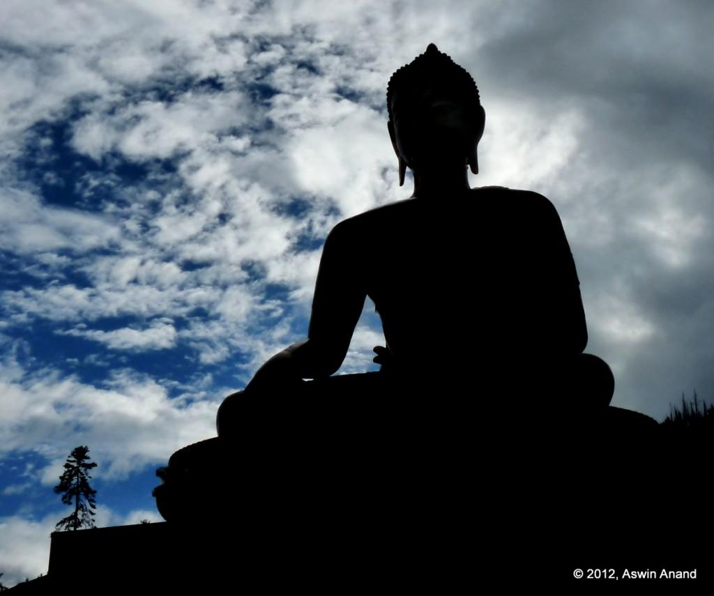 Buddha silhouette, Thimphu