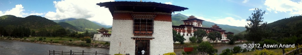 Panorama of the Punakha Dzong